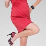 rochie rosie pentru gravide - mamaboutique.ro