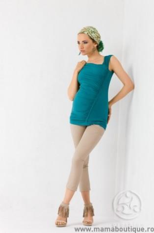 horoscop_zodie_stil_gravide_Bluza Melly turquoise