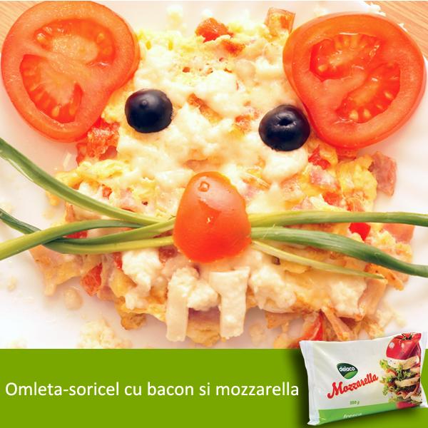 omleta soricel cu mozzarella delaco