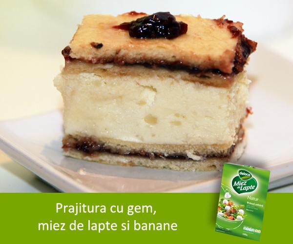 prajitura cu gem - miez - banane2