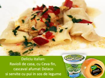 Deliciu italian: ravioli de casa, cu Ceva fin