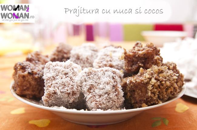 prajitura cu nuca si cocos