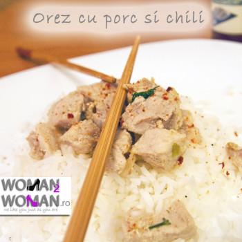 orez cu porc si chili