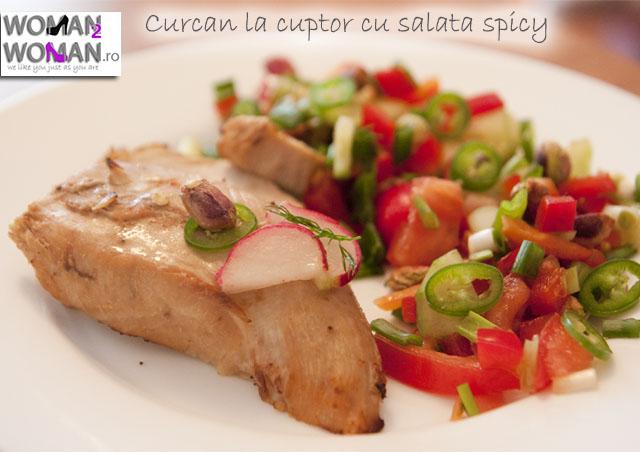curcan cu salata spicy si fistic