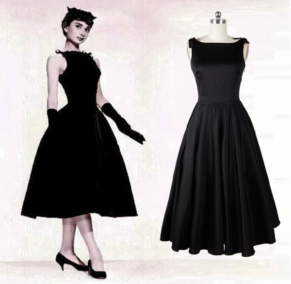 Rochia de petrecere in stil Audrey Hepburn